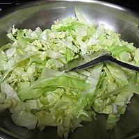 虾米卷心菜的做法图解3
