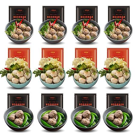 【买6送6共12包】暖男厨房 潮汕手工肉丸125g*6包(共1500g)
