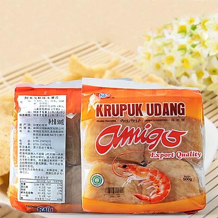 烘焙原料 正宗印尼虾饼 虾片 鲜虾片   原装500g