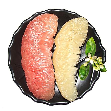 福建琯溪鸳鸯蜜柚 1红1白 4.5-5斤装