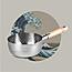 YOSHIKAWA  日本吉川雪平锅不锈钢锅木柄汤锅炉灶18cm小图1