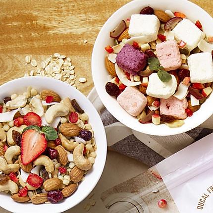 【买1送1拍1发4】趣卡QUCAL酸奶燕麦脆420g+坚果燕麦脆420g